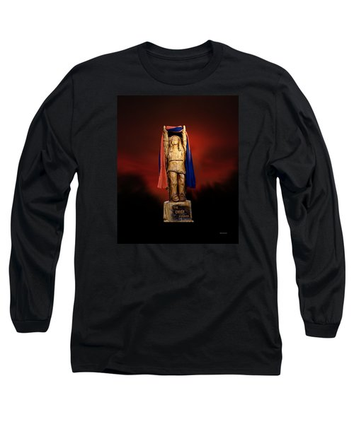 Chief Illiniwek University Of Illinois 06 Long Sleeve T-Shirt by Thomas Woolworth