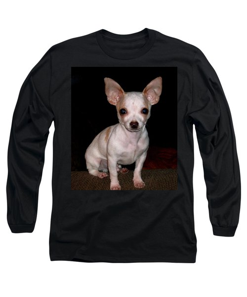 Chihuahua Puppy Long Sleeve T-Shirt by Maria Urso