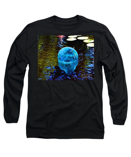 Artsy Blue Glass Float Long Sleeve T-Shirt