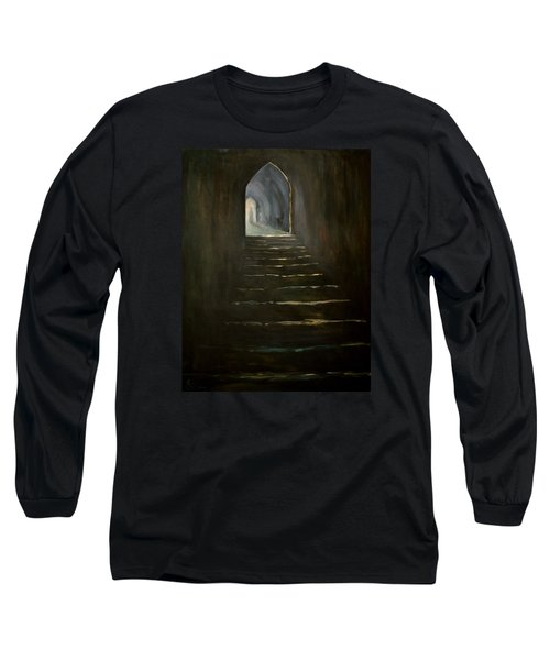 Long Sleeve T-Shirt featuring the painting Childhood Memories 1 by Jean Walker
