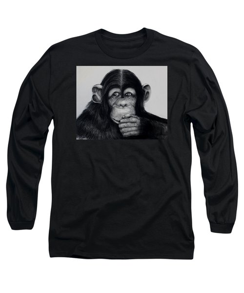 Chimp Long Sleeve T-Shirt by Jean Cormier