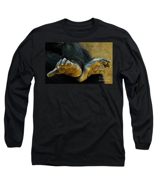 Chimpanzee Feet Long Sleeve T-Shirt
