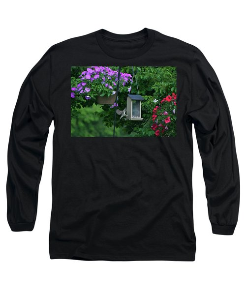 Long Sleeve T-Shirt featuring the photograph Chow Time For This Bird by Thomas Woolworth