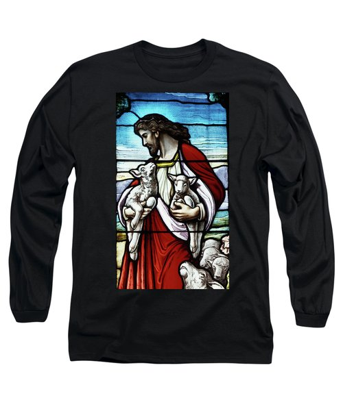 Christ The Good Shepherd With His Flock Long Sleeve T-Shirt