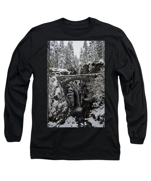 Long Sleeve T-Shirt featuring the photograph Christine Falls In The Winter by Tikvah's Hope