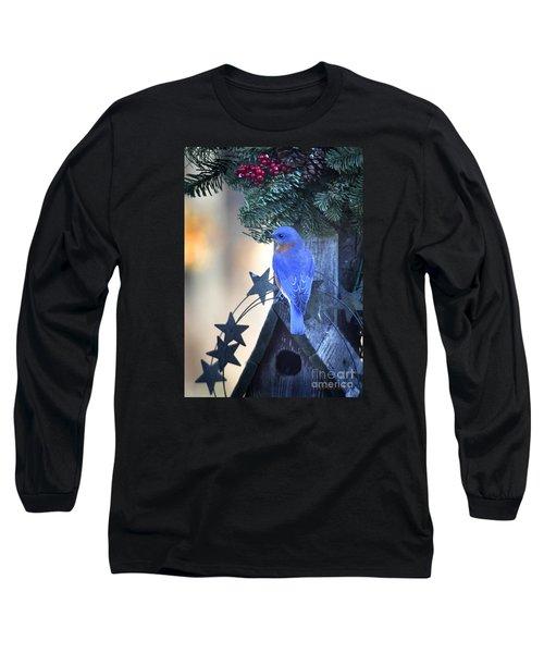 Christmas Bluebird Long Sleeve T-Shirt