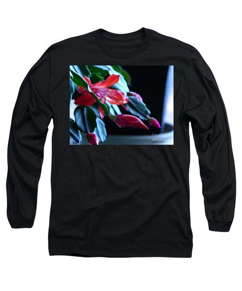Christmas Cactus In Bloom Long Sleeve T-Shirt