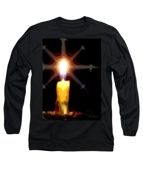 Christmas Candle Long Sleeve T-Shirt by Ludwig Keck