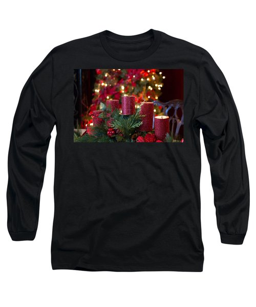 Long Sleeve T-Shirt featuring the photograph Christmas Candles by Patricia Babbitt