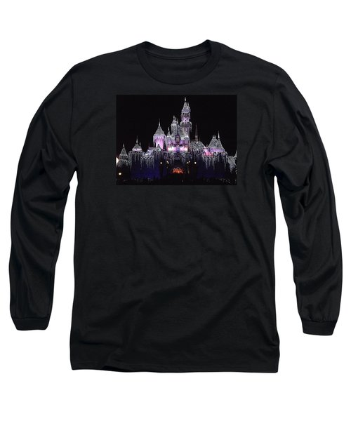 Christmas Castle Night Long Sleeve T-Shirt by Nadalyn Larsen