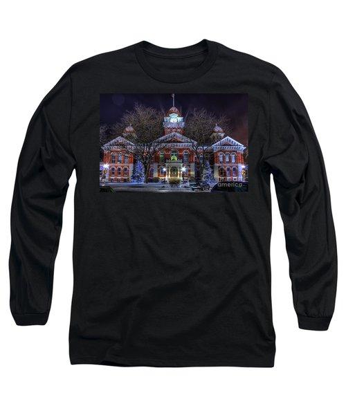 Christmas Courthouse Long Sleeve T-Shirt