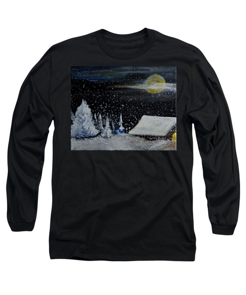 Christmas Eve Long Sleeve T-Shirt by Dick Bourgault