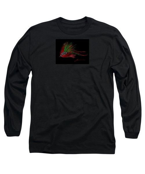 Long Sleeve T-Shirt featuring the painting Christmas Fly by Jean Pacheco Ravinski