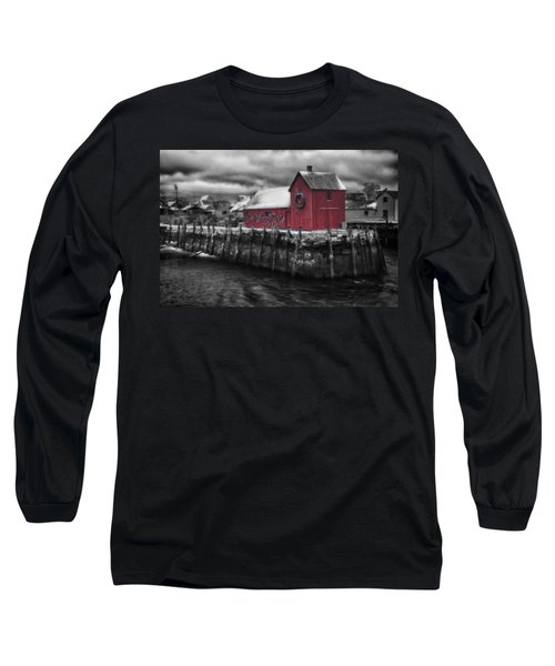 Christmas In Rockport New England Long Sleeve T-Shirt