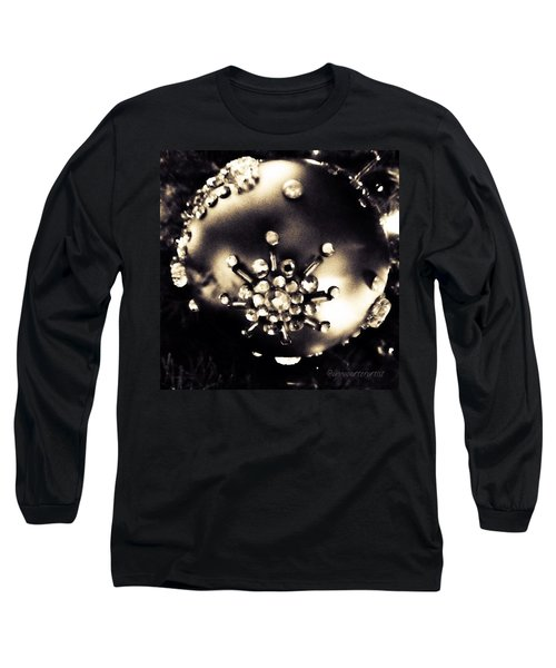 Christmas Ornament In Black And White Long Sleeve T-Shirt