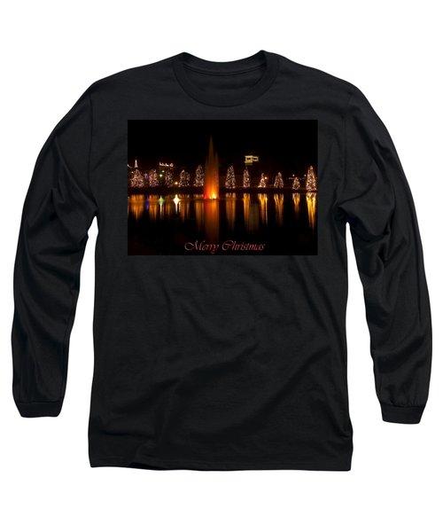 Christmas Reflection - Christmas Card Long Sleeve T-Shirt