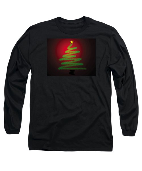 Christmas Tree With Star Long Sleeve T-Shirt by Genevieve Esson