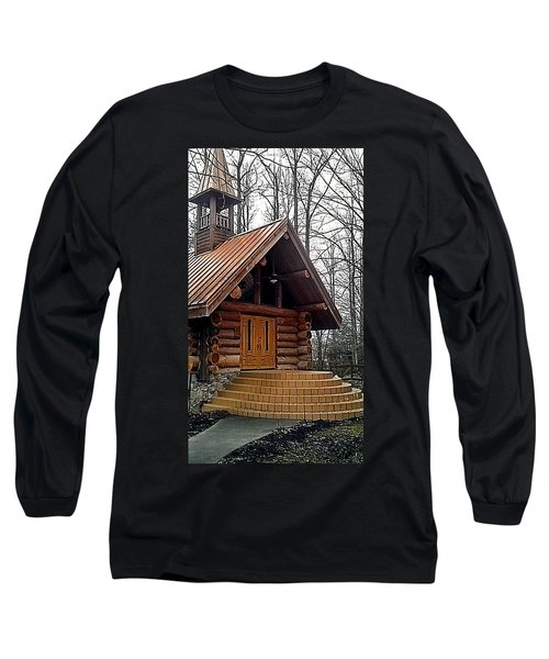 Church Long Sleeve T-Shirt by Janice Spivey