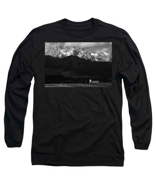 Church Of Saint Peter In Black And White Long Sleeve T-Shirt