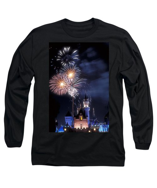 Cinderella Castle Fireworks Iconic Fairy-tale Fortress Fantasyland Long Sleeve T-Shirt