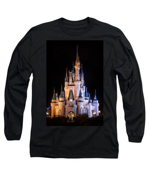 Cinderella's Castle In Magic Kingdom Long Sleeve T-Shirt