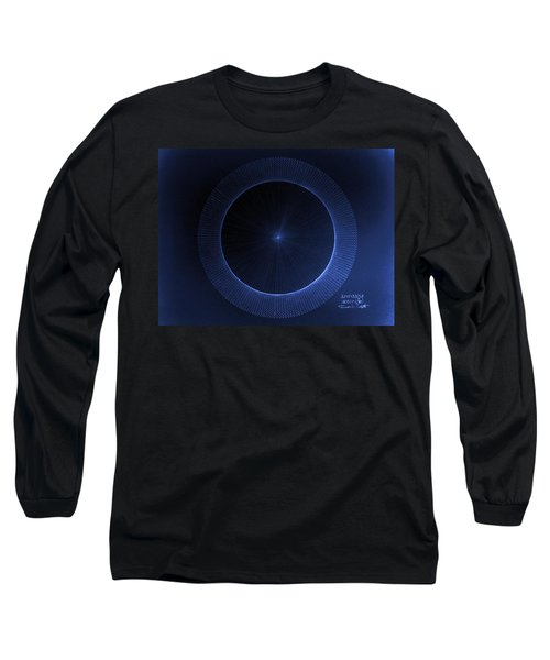 Long Sleeve T-Shirt featuring the drawing Circles Don't Exist Pi 180 by Jason Padgett