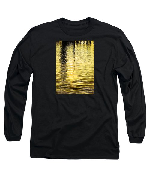 Citrine Ripples Long Sleeve T-Shirt by Chris Anderson