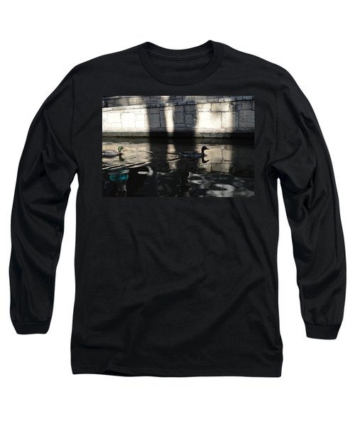 Long Sleeve T-Shirt featuring the photograph City Ducks by Shawn Marlow