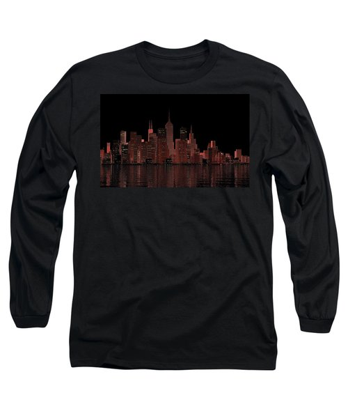 Chicago City Dusk Long Sleeve T-Shirt