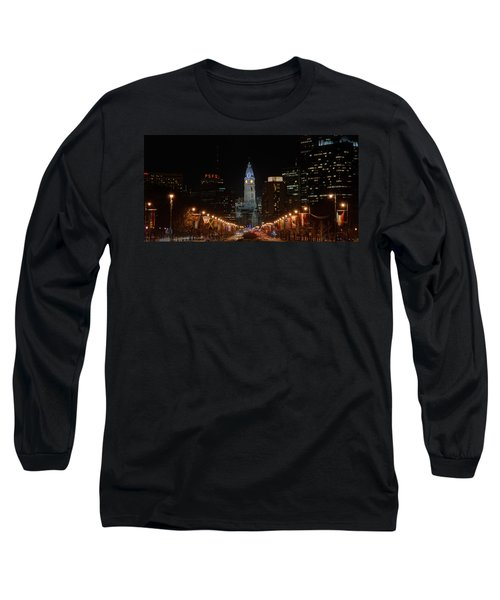 City Hall At Night Long Sleeve T-Shirt