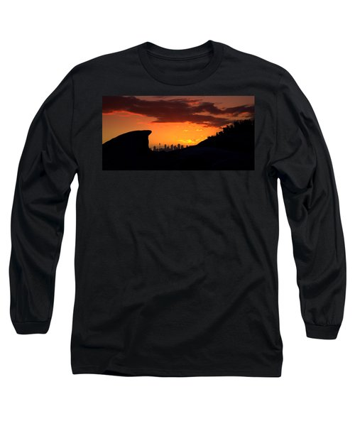 Long Sleeve T-Shirt featuring the photograph City In A Palm Of Rock by Miroslava Jurcik