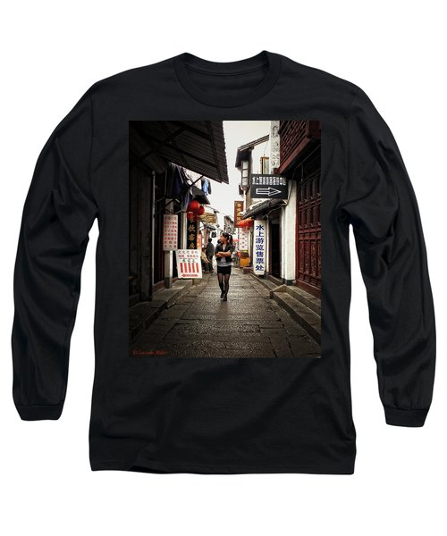 Long Sleeve T-Shirt featuring the photograph City Life In Ancient China by Lucinda Walter