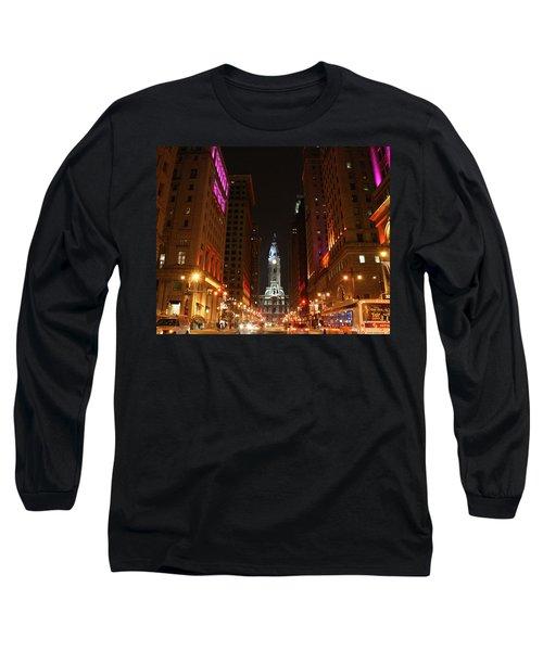 Philadelphia City Lights Long Sleeve T-Shirt