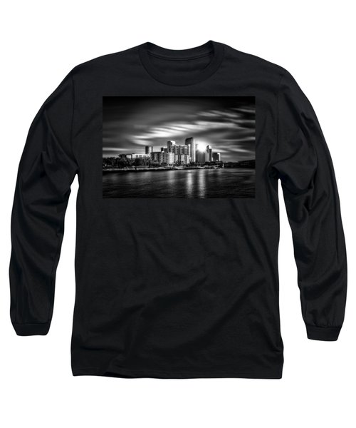 City Of Reflection In Monochrome Hdr Long Sleeve T-Shirt by Michael White