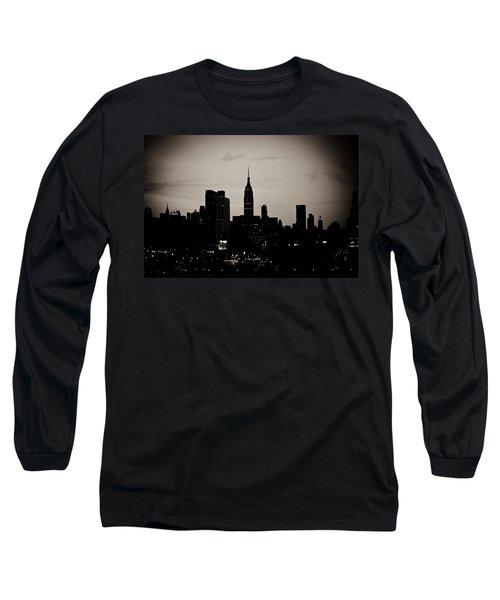 City Silhouette Long Sleeve T-Shirt by Sara Frank