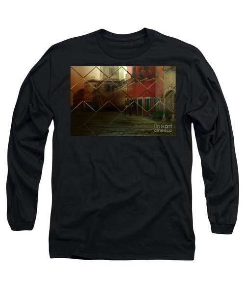 Long Sleeve T-Shirt featuring the digital art City Street by Liane Wright