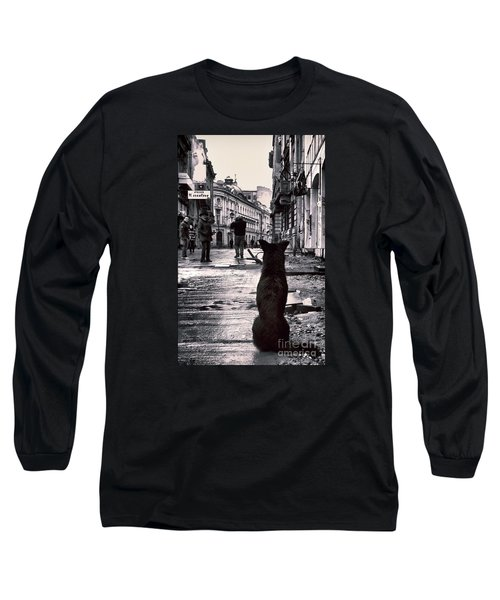 City Streets And The Theory Of Waiting Long Sleeve T-Shirt