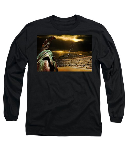 Clash Of The Titans Long Sleeve T-Shirt by Meirion Matthias