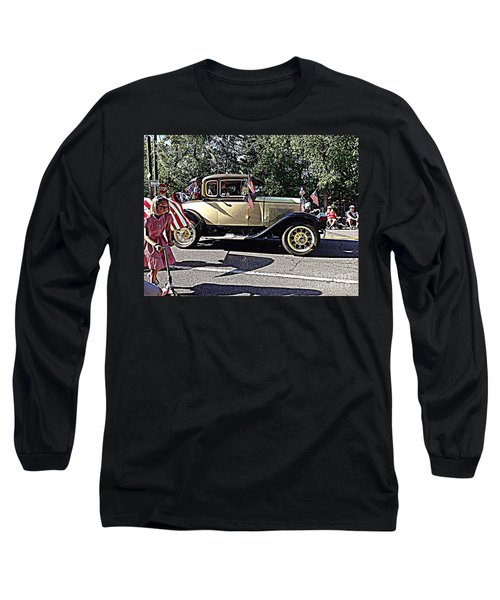 Long Sleeve T-Shirt featuring the photograph Classic Children's Parade Classic Car East Millcreek Utah 1 by Richard W Linford