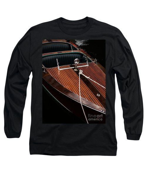 Classic Wooden Power Boat Long Sleeve T-Shirt