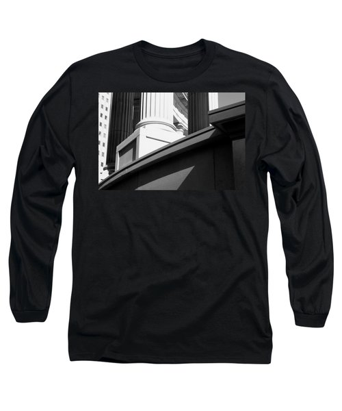 Classical Architectural Columns Black White Long Sleeve T-Shirt