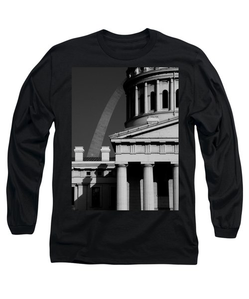 Classical Courthouse Arch Black White Long Sleeve T-Shirt