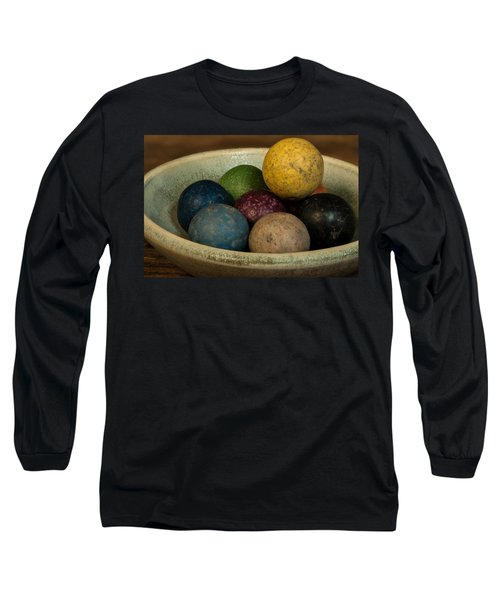 Clay Marbles In Bowl Long Sleeve T-Shirt