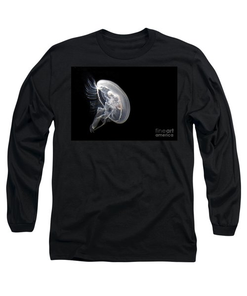 Clear Jelly Fish In Dark Water Art Prints Long Sleeve T-Shirt