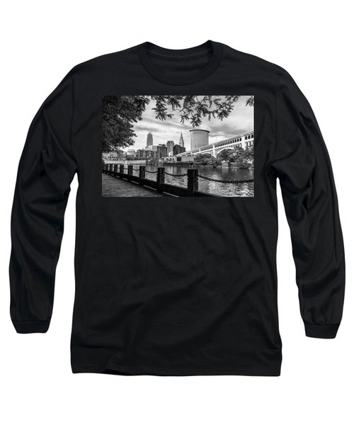 Cleveland River Cityscape Long Sleeve T-Shirt