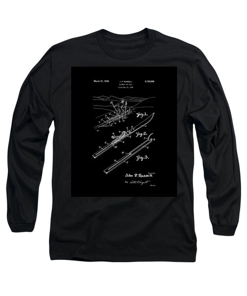 Climber For Skis 1939 Russell Patent Art Long Sleeve T-Shirt by Lesa Fine