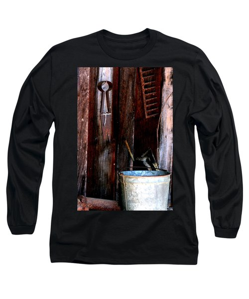 Long Sleeve T-Shirt featuring the photograph Clippers And The Bucket by Lesa Fine