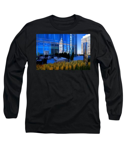 Clock Tower Reflection Long Sleeve T-Shirt