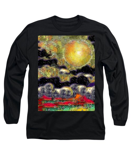 Clonescape Moon Long Sleeve T-Shirt by Carol Jacobs