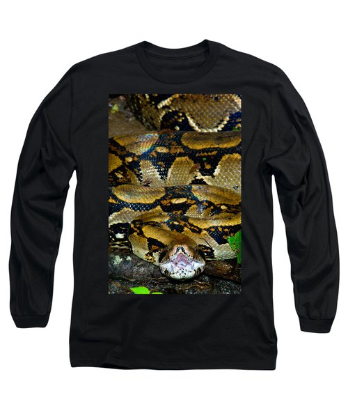 Close-up Of A Boa Constrictor, Arenal Long Sleeve T-Shirt